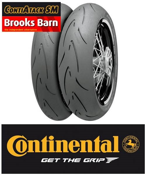 continental contiattack sm tyre pair front 120 70 r 17. Black Bedroom Furniture Sets. Home Design Ideas
