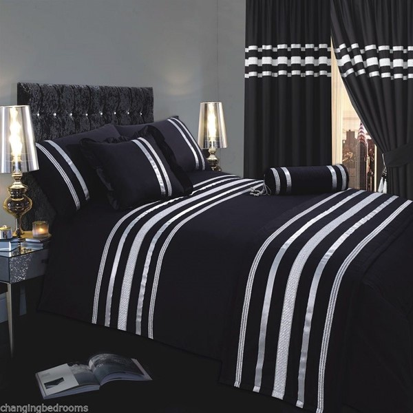 changingbedrooms com 7ft black silver hollywood glamour emperor size