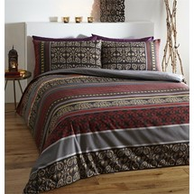 044ff4df8d45 Double Size Red Fusion Indian Reversible Design Duvet Cover Set