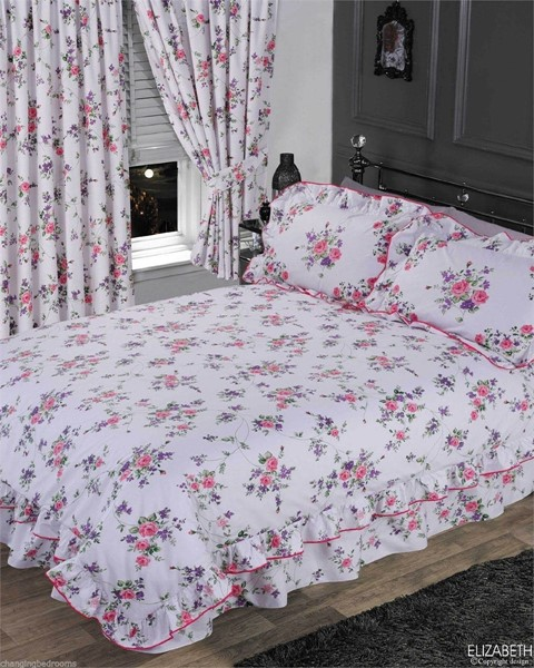 Changingbedrooms Com King Size White Frilled Floral