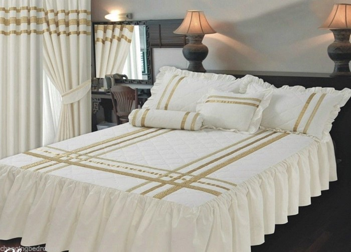 Changingbedrooms Com Superking Size Bed Glamour Cream Gold