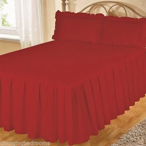 Changingbedrooms Com Superking Size Red Fitted Egyptian