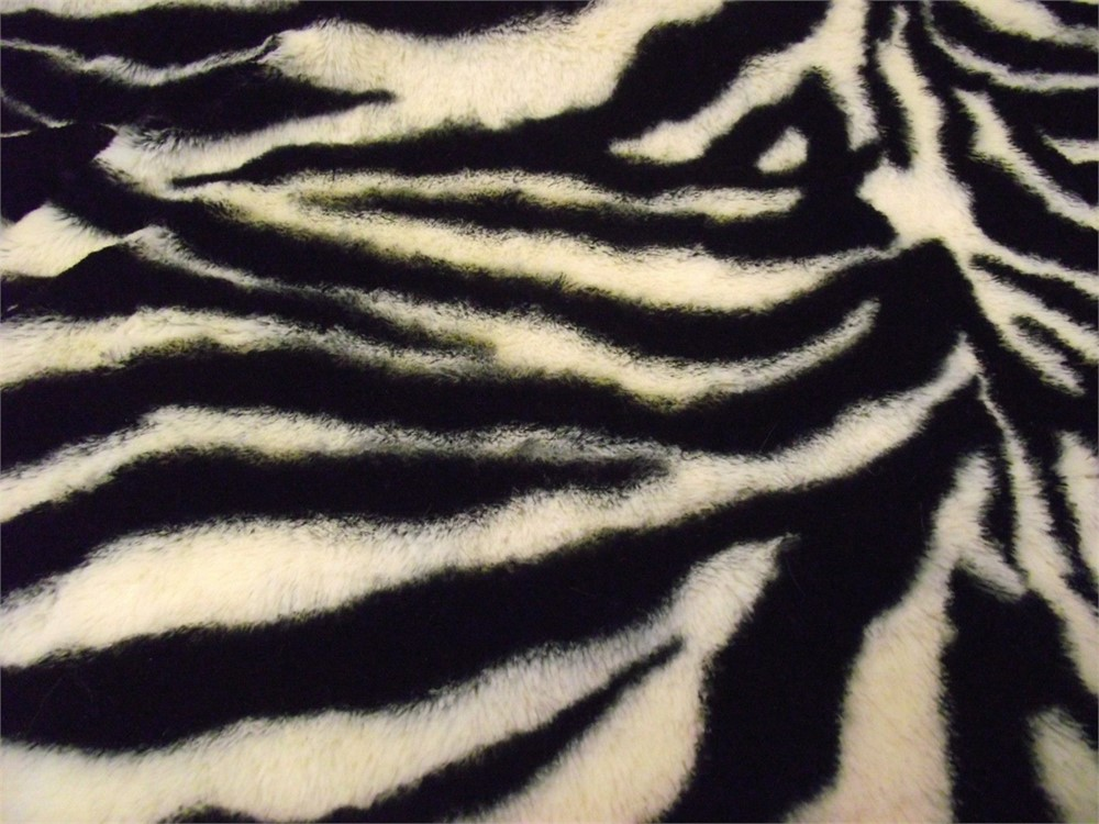 ZEBRA SUPER Luxury MICRO Faux Fur Fabric Material