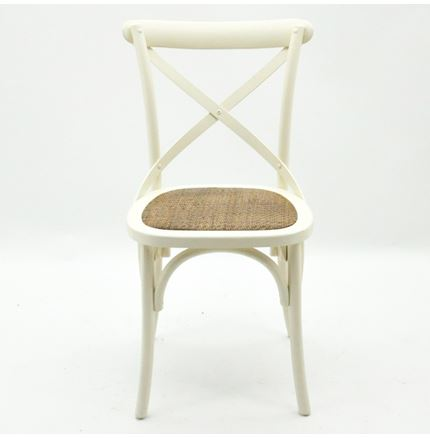 4x Cintra Cross Back / bent wood Dining Chair - Ivory