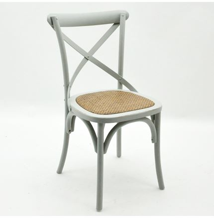 6x Cintra Cross Back / bent wood Dining Chairs - French Grey