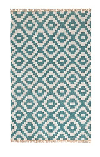 Aqua outdoor kilim rug, 120 x 180cm