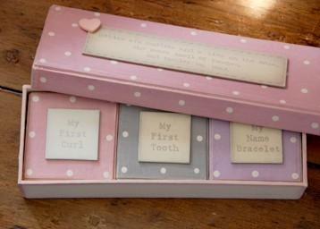 Baby Keep Sake triple Box set - pink (by east of india)