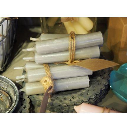 Bundle of 4 candles - Light Grey