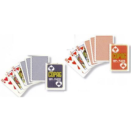 Cartamundi  - Copag 100% Plastic Poker size Playing Cards