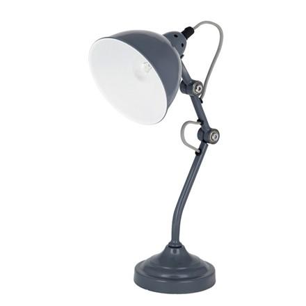 French Grey Metal Task Lamp