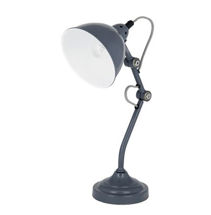 French Grey Metal Task Lamp