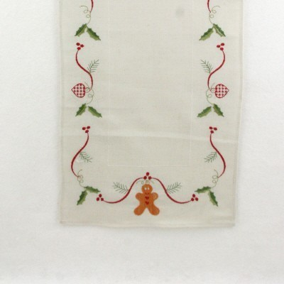 Gingerbread Runner - christmas decoration table cloth