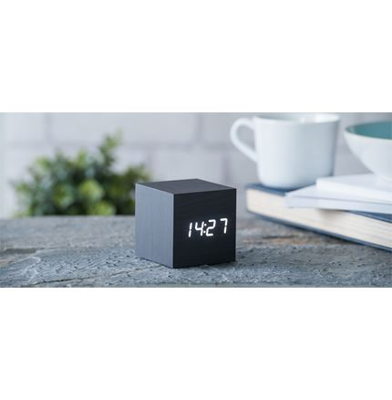Gingko Cube Clock - Black