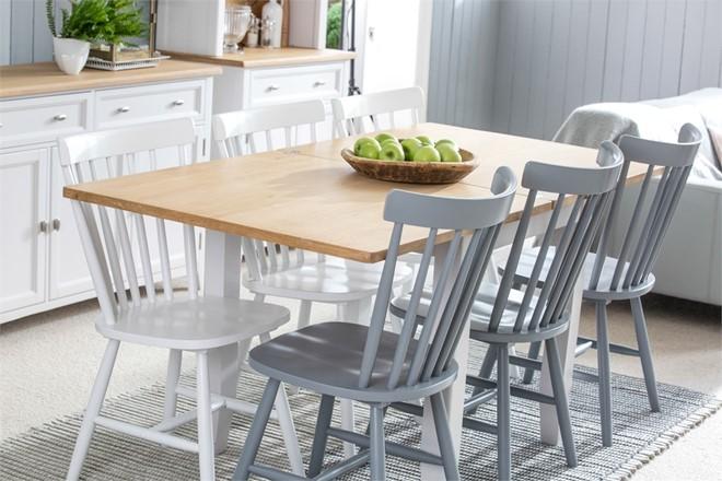Grasmere Dining Furniture - 85cm-170cm Flip-Top Dining Table