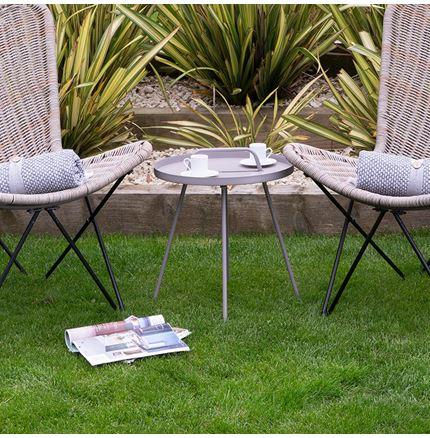 Grey Metal Rio Table - Outdoor Rattan Furniture