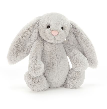 Jellycat soft toy - Bashful Silver Bunny - Small
