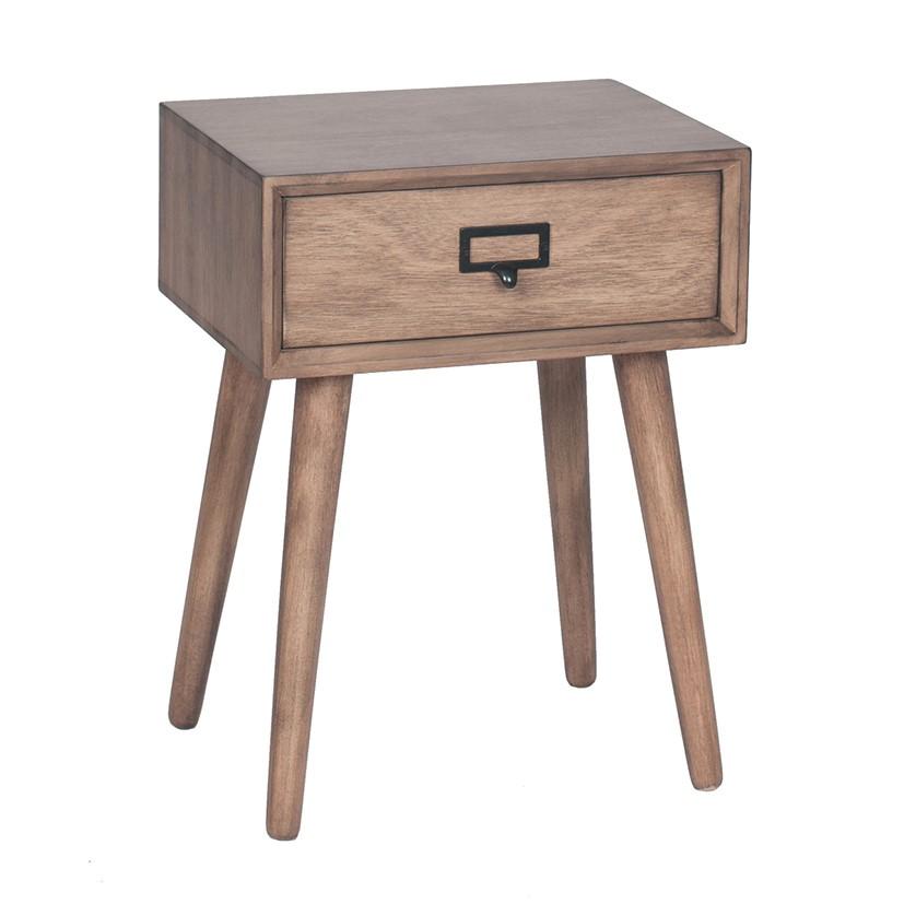 Klimt - Desert Brown Pine Wood 3 Drawer Unit - bedside - lamp table