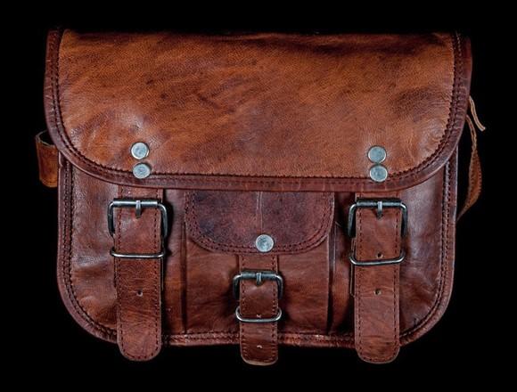 Leather Bag - 9 inch round edge Satchel