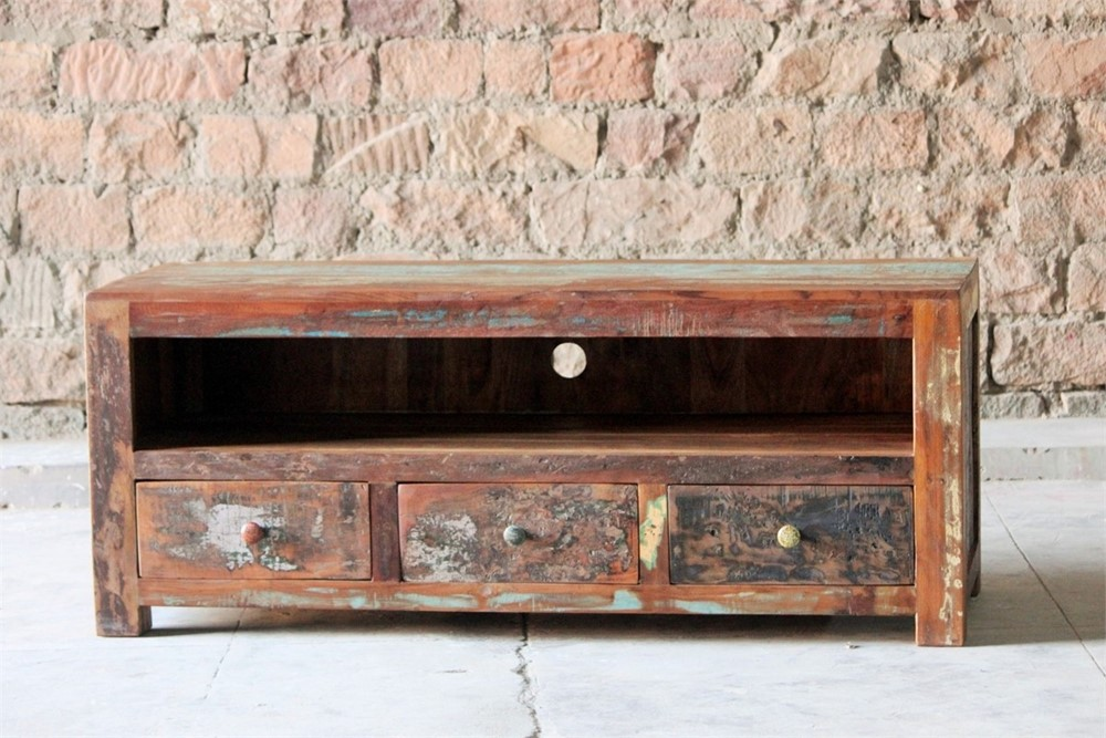 Little Tree Reclaimed Furniture - Mary Rose Upcycled 3 Drawer TV Plasma Unit