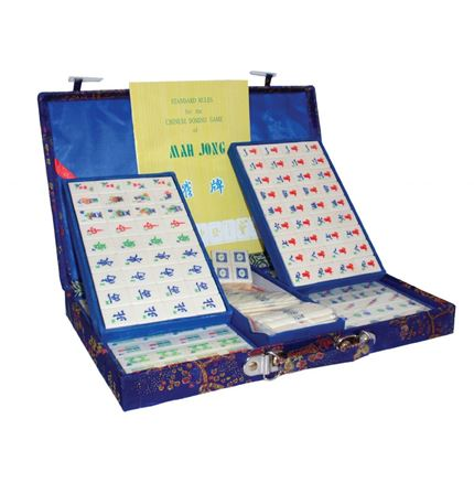 Mah-jong set Brocade - Large - Blue