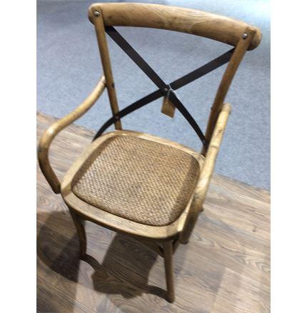 Maison Cross Back / bent wood Carver Chair - Oak