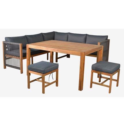 Monterray Garden Corner Dining Set - Outdoor Rattan Furniture