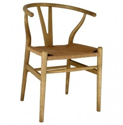 NOW DISCONTINUED - Columbus - Natural Toom Wood and String Chair - 'Y' Wishbone Style