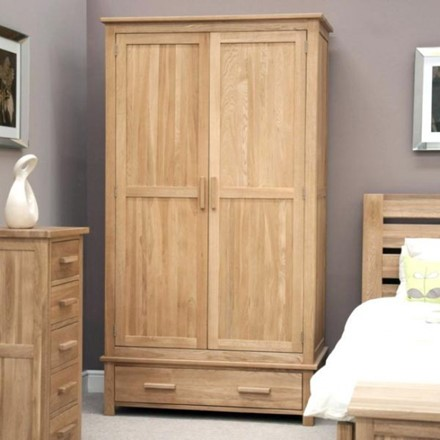 Opus Oak Double (Gents) Wardrobe.