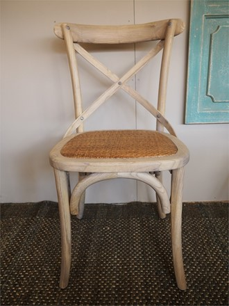 Rhone Cross Back / bent wood Dining Chair - Light oak