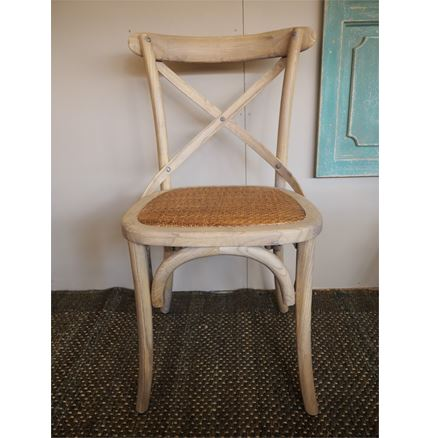 Rhone Cross Back / bent wood Dining Chair - Light oak