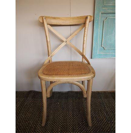 Rhone Cross Back / bent wood Dining Chair - Natural oak