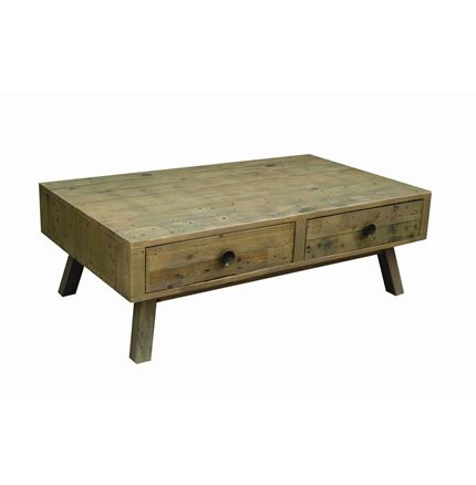 Rustica Dining Furniture - Coffee table with  double through drawers