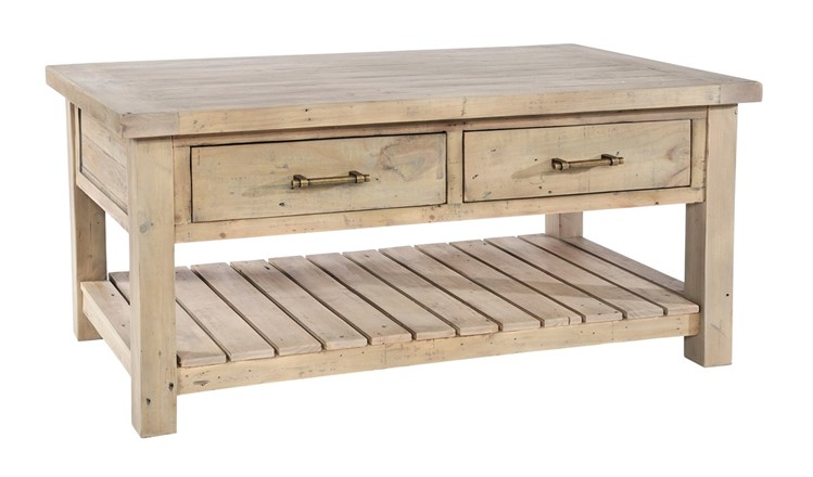 Saltash Dining Furniture - Coffee Table 2 Thru Drawers