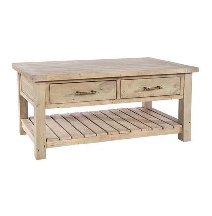Saltash Dining Furniture - Coffee Table 2 Thru Drawers