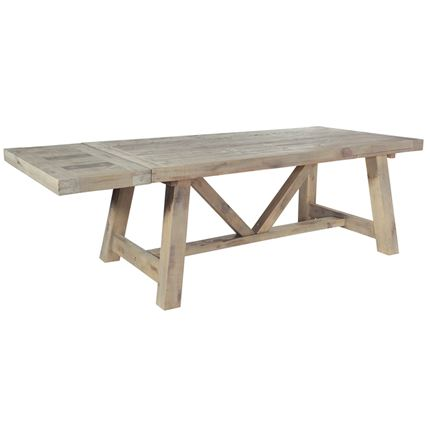 Saltash Dining Furniture - Extending Dining Table 200 (ext 290) - extension panels sold separatley