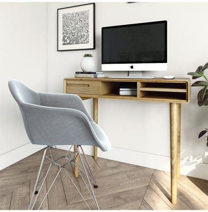 Scandic Computer Desk - Solid Oak - KIRBY