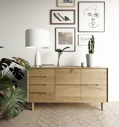 Scandic Large Sideboard - Solid Oak