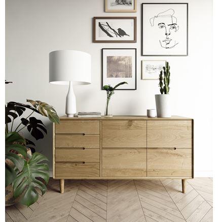 Scandic Large Sideboard - Solid Oak