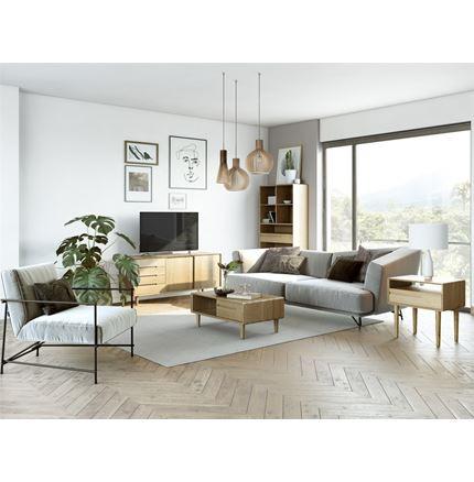 Scandic Medium TV Unit - Solid Oak
