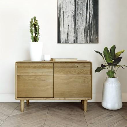 Scandic Narrow Unit - Solid Oak