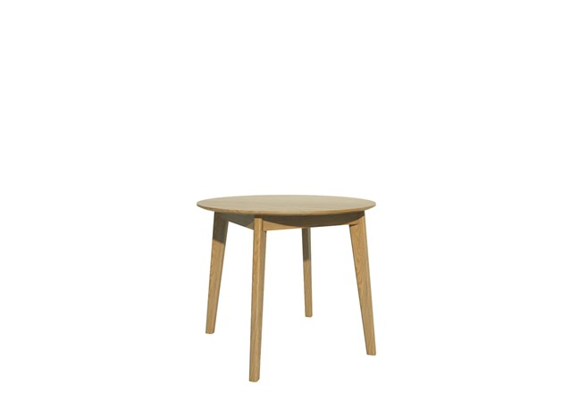 Scandic Round Dining Table 95cm - Solid Oak
