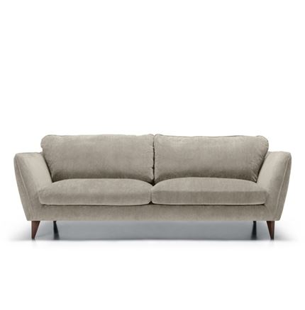 Stella 3 seater Sofa in Grey Beige by Sits - quick lead time