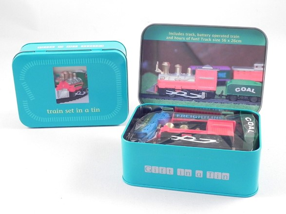 Train Set in a Tin - Gifts in a Tin Range by Apples To Pears