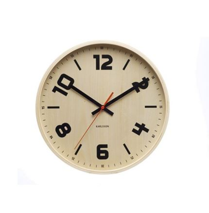 Wall Clock Black Numbers