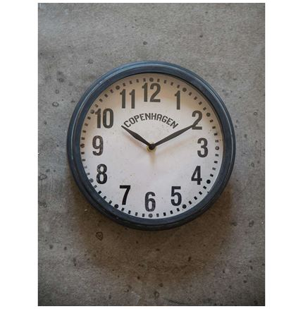 Wall Clock -  Copenhagen - Grey-zinc finish