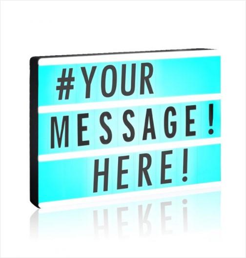 ex display - LED Lightbox - Customizable Cinematic LED Message Box