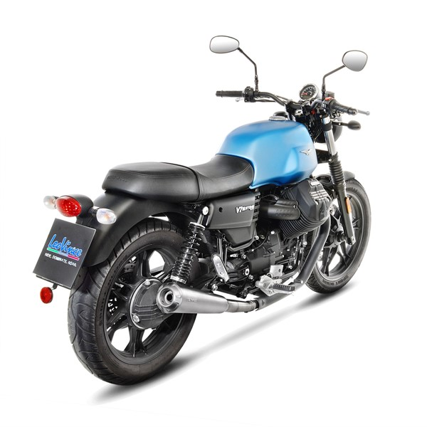 moto guzzi v7 iii stone special anniversario leovince classic racer slip on exhausts. Black Bedroom Furniture Sets. Home Design Ideas