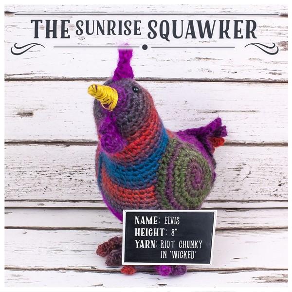 Elvis The Rooster Crochet Pattern