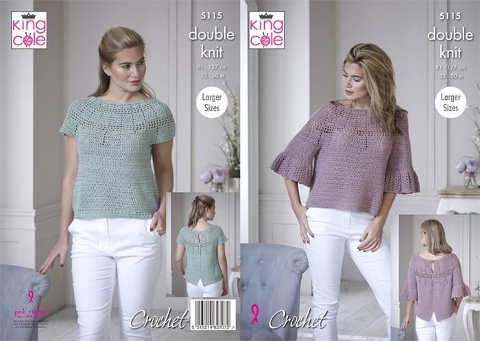 King Cole Finesse Cotton Dk Crochet Pattern Kc5115
