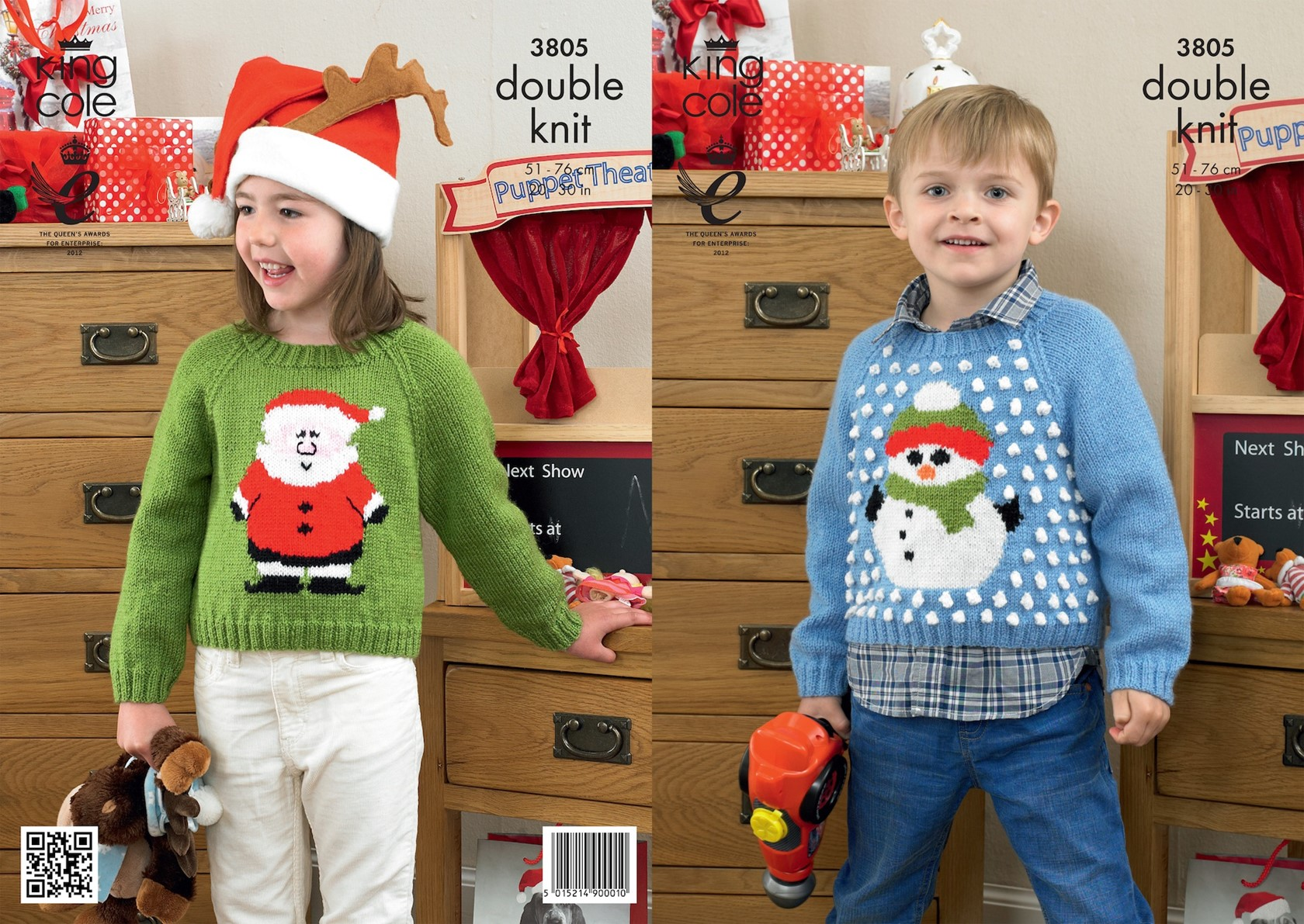 King Cole Christmas Jumper DK Pattern KC3805